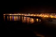Atlantikküste Spanien bei Nacht